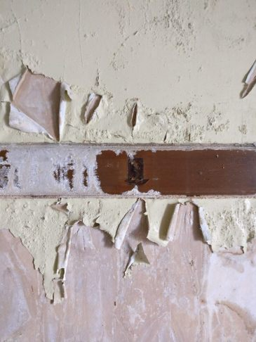 crumbling paint