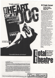 Reviews of Heart of a Dog (newspaper clippings)